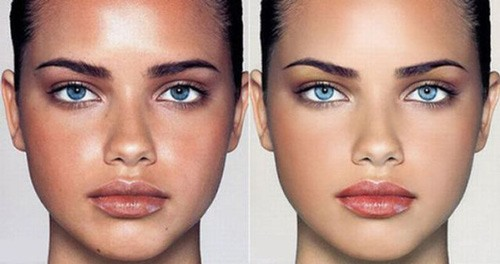 celebrities before and after photoshop, adriana lima