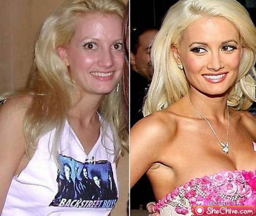 celebrities before and after photoshop, Holly Madison, Playboy