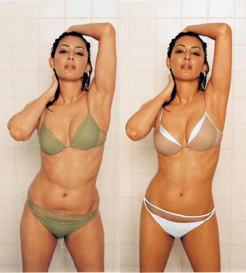celebrities before and after photoshop, Lingerie Model bikini