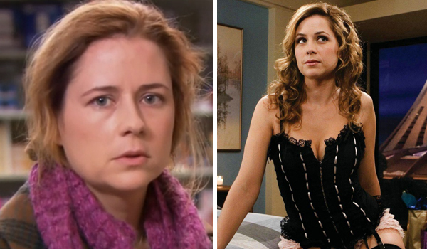 hot girls who played ugly, hot girl ugly tv character, jenna fischer the office