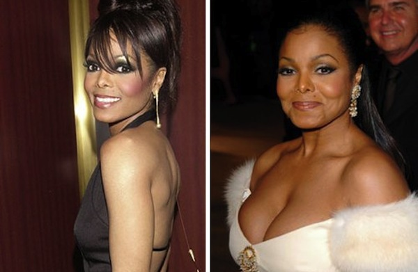 best celebrity boob jobs, janet jackson