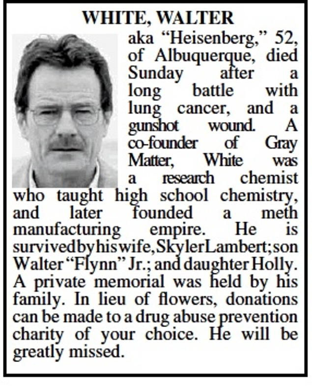 Walter White Obituary