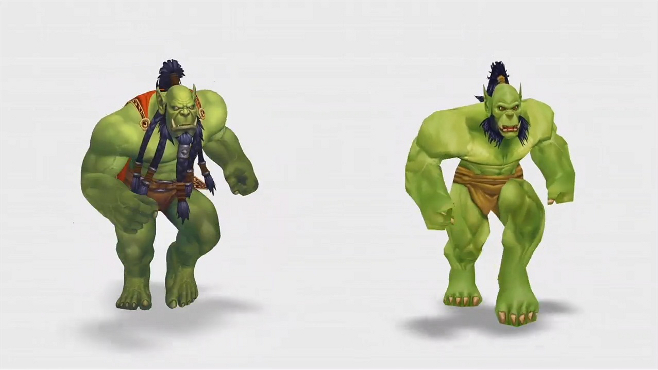 Warlords of Draenor will update several character models, including the Orcs as seen above.