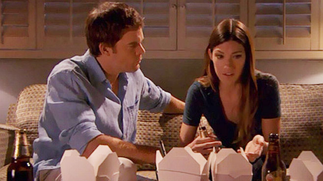 Do dexter and debra ever hook up