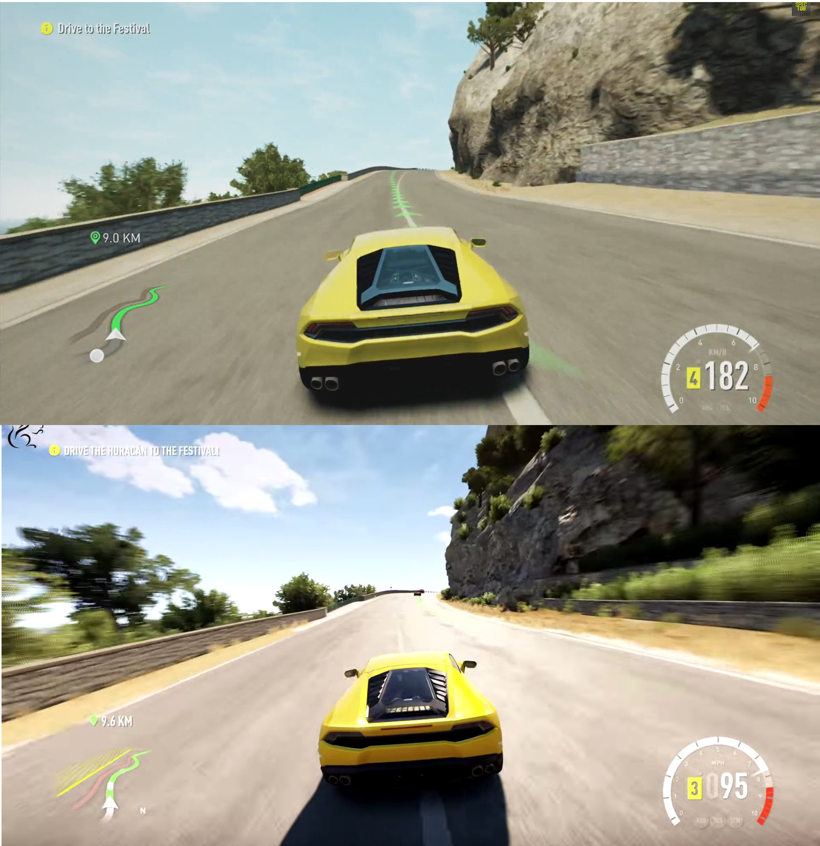 forza horizon 2 xbox one vs xbox 360 comparison shows two. Black Bedroom Furniture Sets. Home Design Ideas