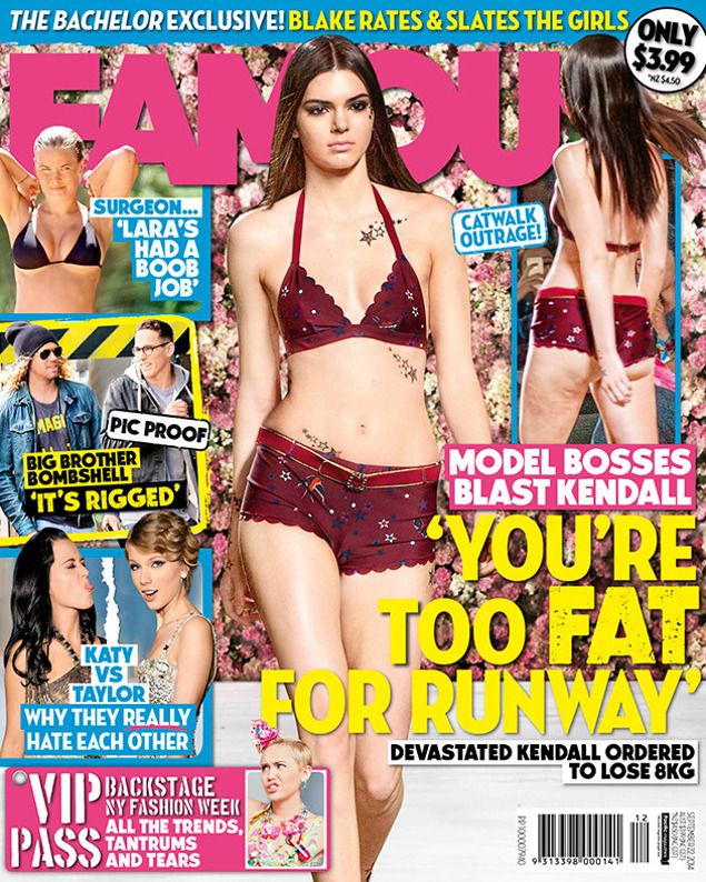 Kendall Jenner Too Fat