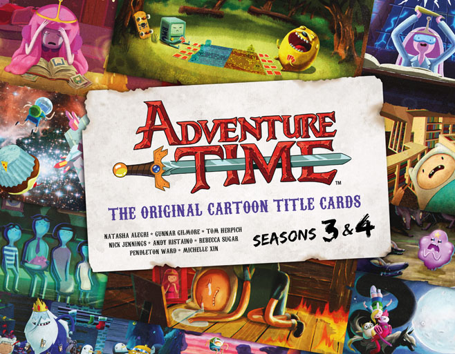 Adventure Time Title Cards Seasons 3 and 4