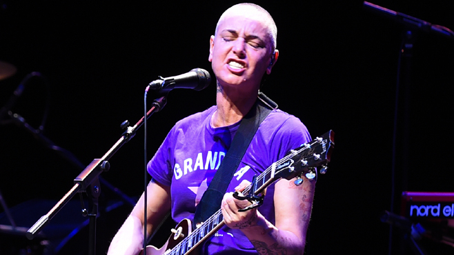 Sinead O'Connor performing at the Barbican Centre
