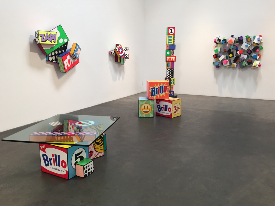 """Pop Geometry"" exhibit, Todd Gray, Skidmore Gallery."