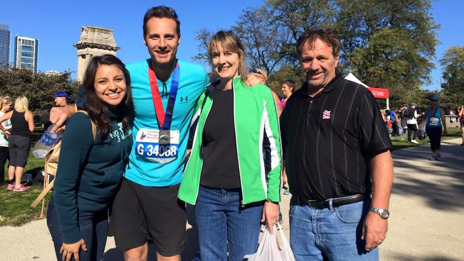 My family and I more than two hours after crossing the finish line and after I was able to stand on my own again.