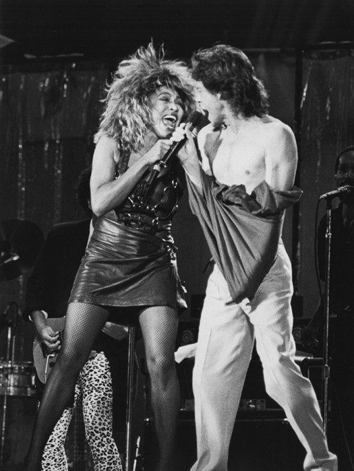 Tina Turner and Mick Jagger (Photo by Ron Galella/WireImage)