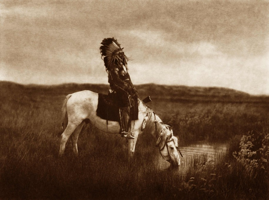 Edward S. Curtis, An Oasis in the Badlands, 1905, photogravure