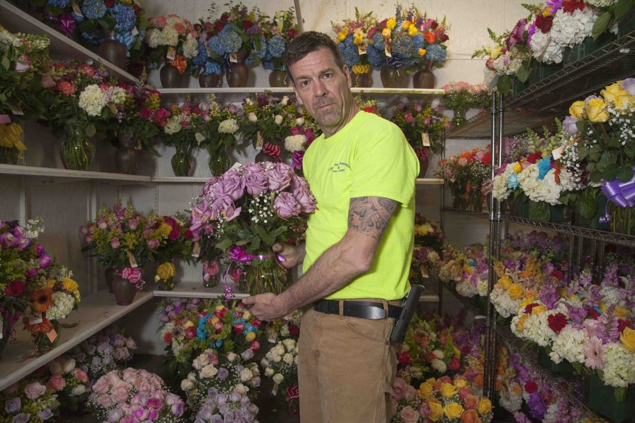 Select Roses No. 1: Flower Man, 2015. Digital C-print. 27 x 40 inches.