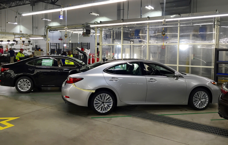 While The Steel That Forges Its Body Is Stamped In The Main Toyota Plant  Space Alongside The Camrys And Avalons, The ES Comes Together On The  Separate Lexus ...