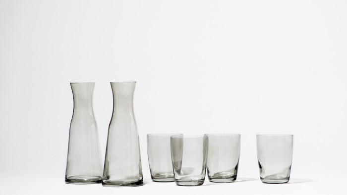 Snowe Grey Carafes and Essential Glasses courtesy of Snowe