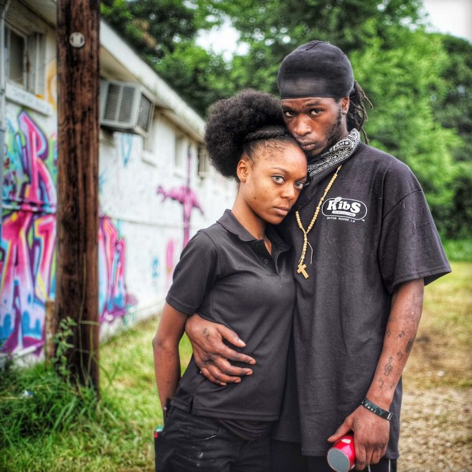 Ruddy Roye Jacques Johnson and Pilar Agpawa, (Alton Sterling) Baton Rouge, LA, July 2016 Archival pigment print on metallic paper, printed 2016 35 x 35 in Edition of 10; Signed by photographer verso