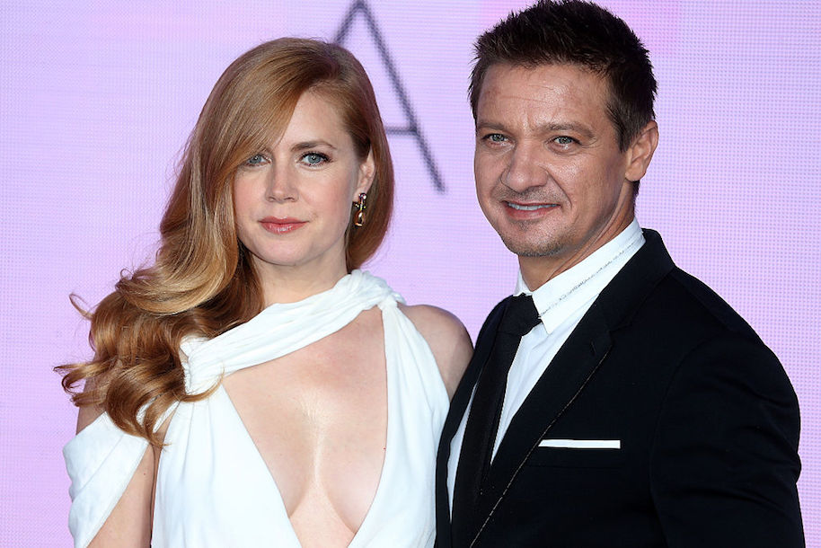 LONDON, ENGLAND - OCTOBER 10: Amy Adams and Jeremy Renner attend the 'Arrival' Royal Bank Of Canada Gala screening during the 60th BFI London Film Festival at Odeon Leicester Square on October 10, 2016 in London, England. (Photo by Fred Duval/FilmMagic)