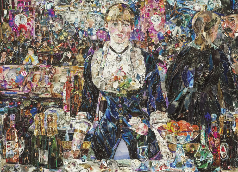 Vik Muniz. A Bar at the Folies-Bergere, after Edouard Manet, from Pictures of Magazines 2, 2012. © Vik Muniz/Licensed by VAGA, New York, NY.