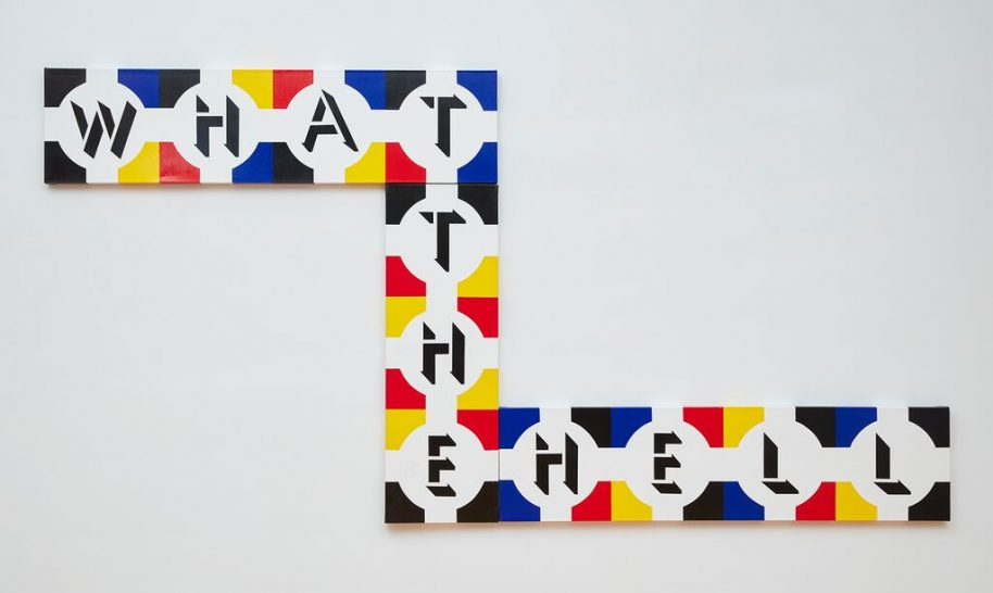 Arturo Vega, What The Hell, 1994 Acrylic on canvas 54 x 162 1/4 x 1/2 inches