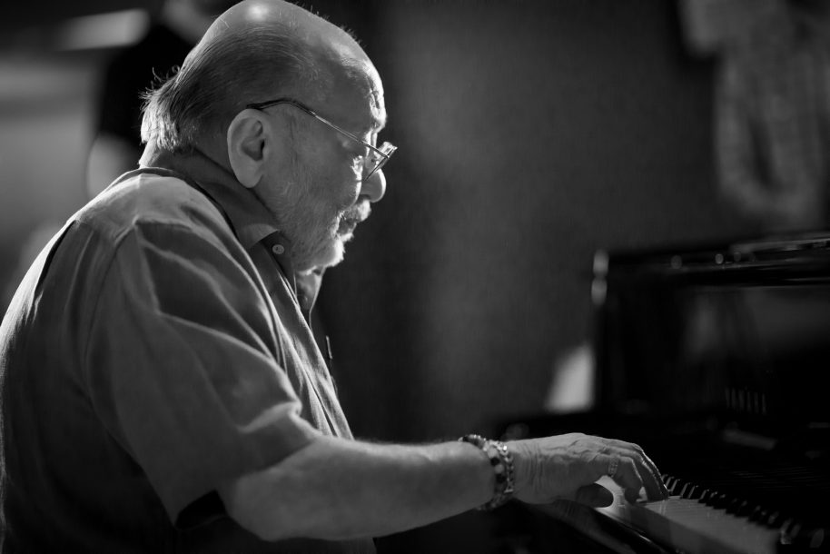 Eddie Palmieri plays for the camera during the filming of RBMA Presents The Note: Eddie Palmieri, at Red Bull Studios in New York, NY, USA on 31 March, 2016.