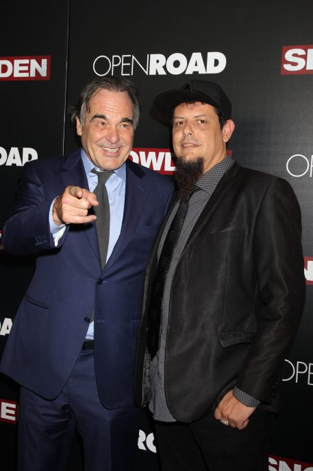 Oliver Stone and and Ralph Echemendia at the NYC premiere of Snowden -