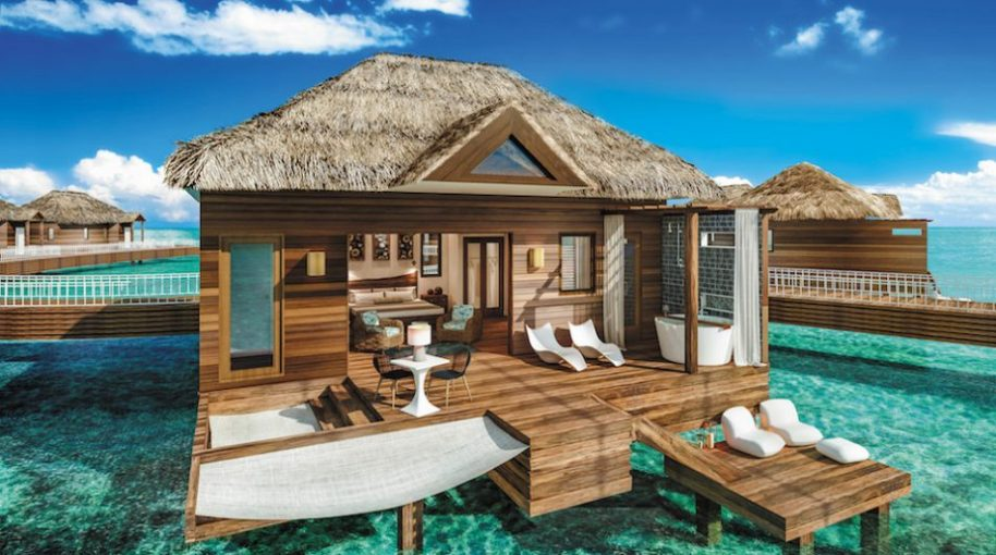 Sandals plans 12 bungalows for February. Photo courtesy of Sandals Resorts.