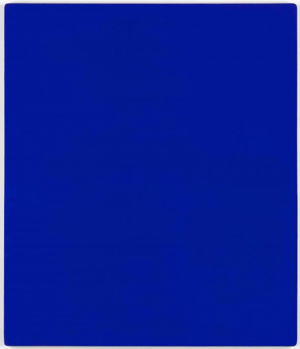 Yves Klein, 1928-1962 Untitled blue monochrome, (IKB 79) 1959. Paint on canvas on plywood 1397 x 1197 x 32 mm. © Yves Klein, ADAGP, Paris and DACS, London 2016.