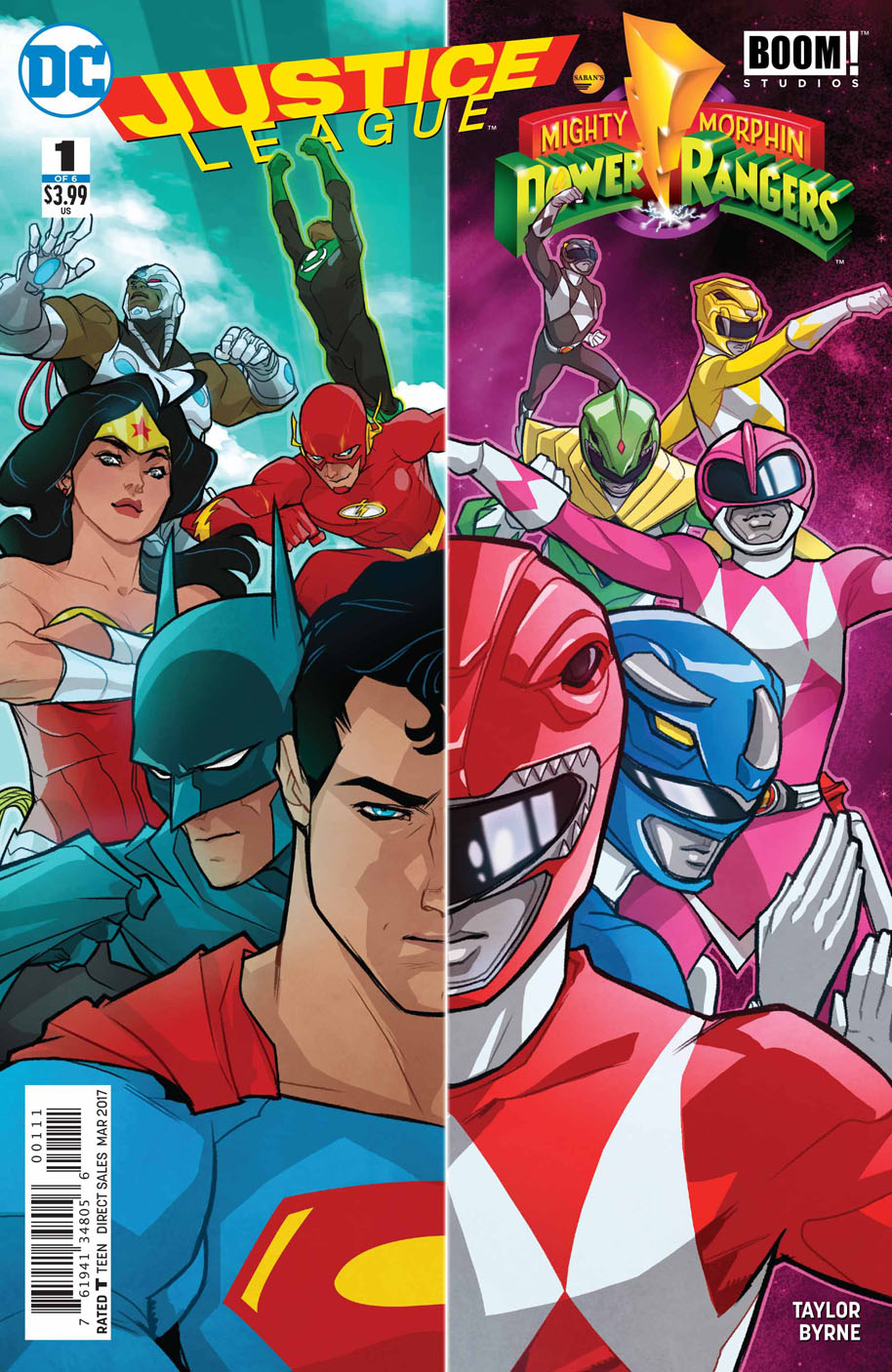 Justice League Power Rangers 1 cover
