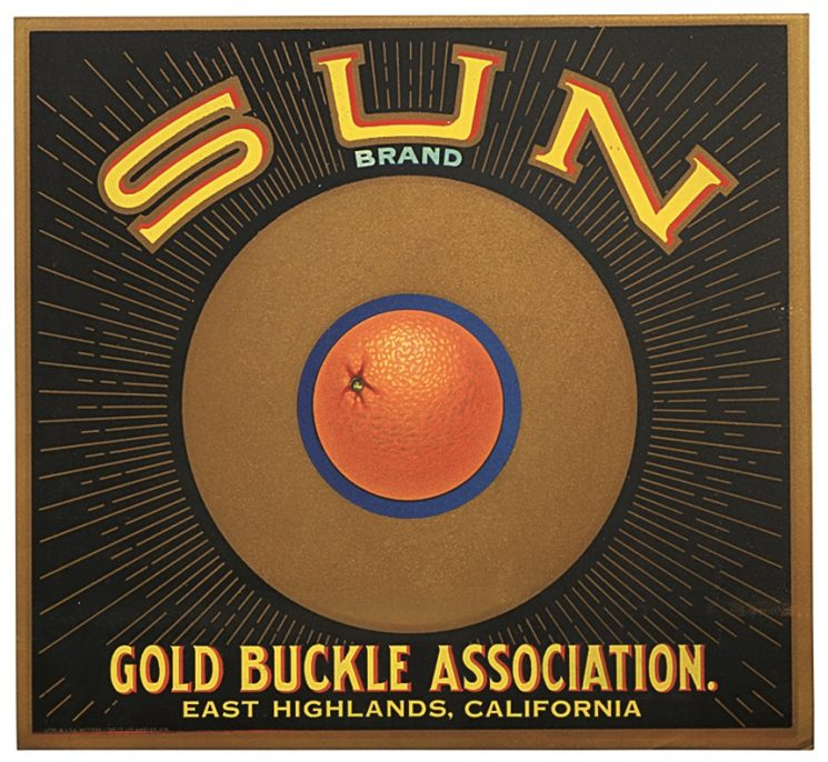 "(Fruit) ""Sun Brand fruit box label"""