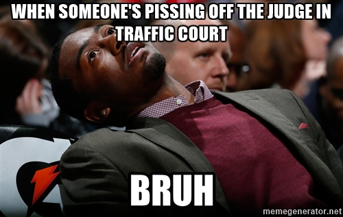 Bruh meme traffic judge
