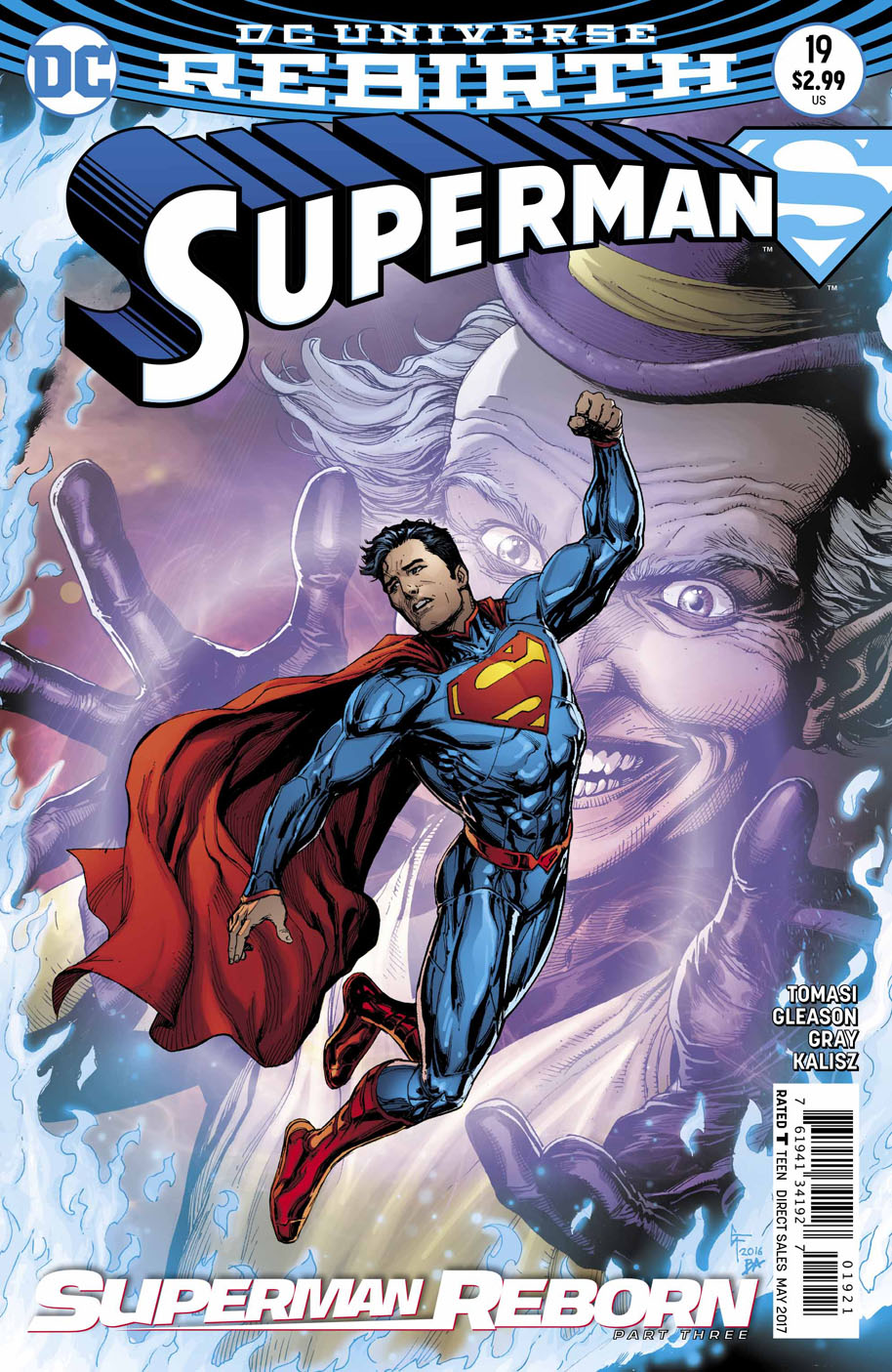 Superman 19 open order variant cover