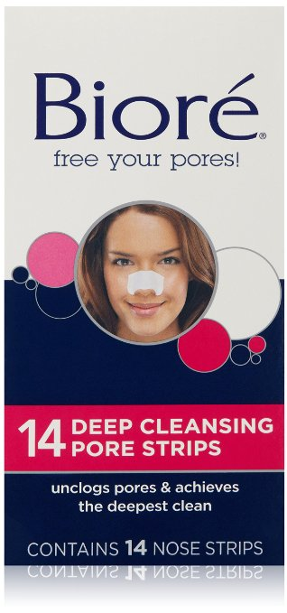 Use Biore Deep Cleansing Pore Strips to get rid of blackheads