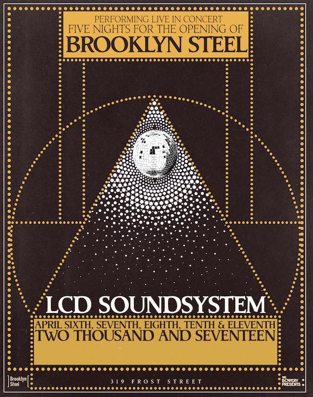 lcd-soundsystem-brooklyn-steel-residency-poster