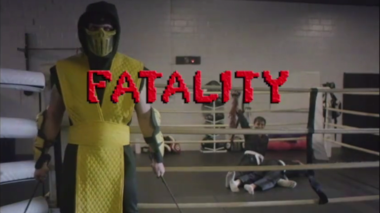 scorpion mortal kombat gym