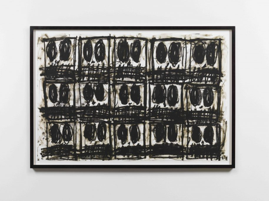 Rashid Johnson. Untitled Anxious Drawing, 2017, Oil on cotton rag. 79 x 120 cm / 31 1/8 x 47 1/4 in.