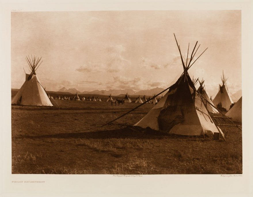 Edward S. Curtis. The North American Indian, Portfolio 6, Plate 207. Piegan Encampment,, 1900, Photogravure.