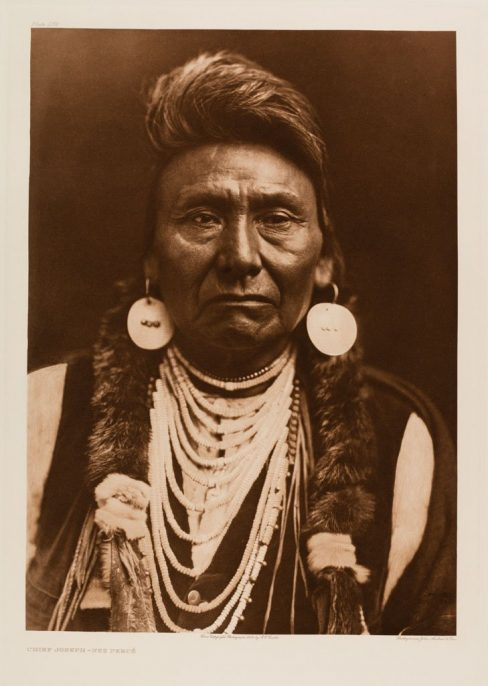 Edward Sherriff Curtis. The North American Indian. Portfolio 8, Plate 256. Chief Joseph – Nez Perce, 1909, Photogravure.