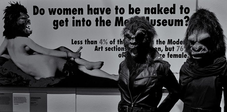 Guerrilla Girls - V&A Museum, London. Photo: Eric Huybrechts, courtesy of Wikimedia Commons.