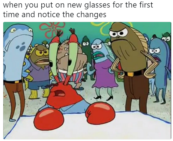 Mr. Krabs meme glasses
