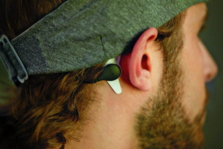 Sleep improving white noise headband