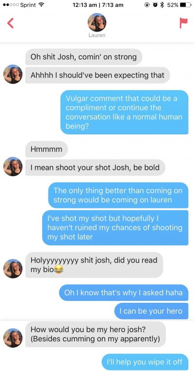 Dirty Tinder talk