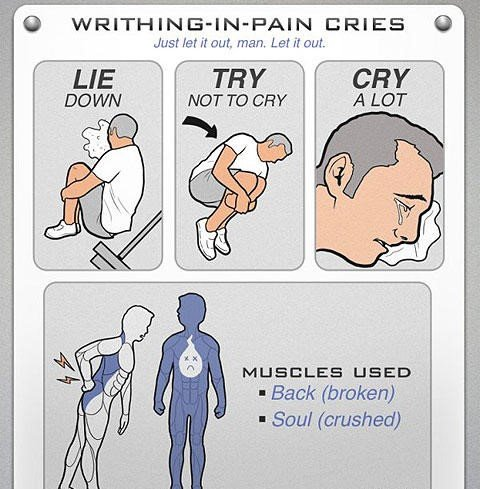 Cry a lot
