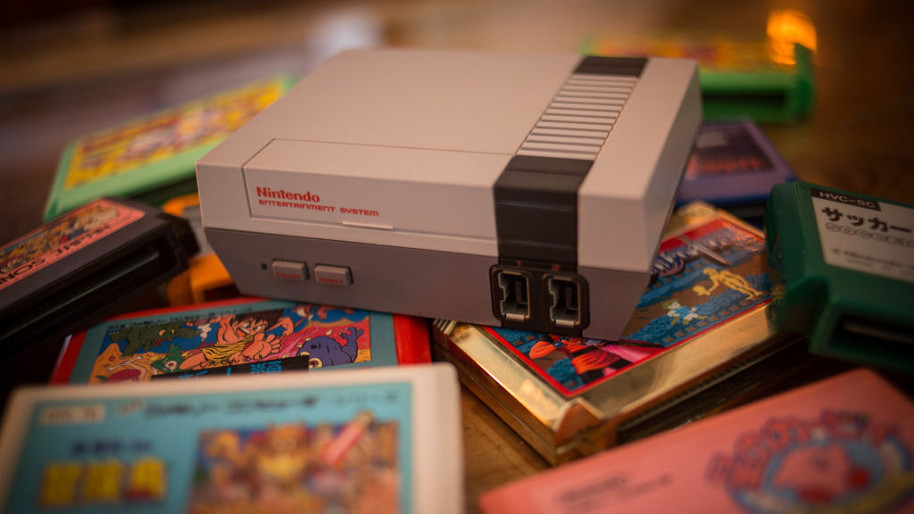 Nintendo Entertainment system with games