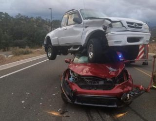 Jason Bourne Would Be Impressed By This Car Crash That Belongs In A Monster Jam