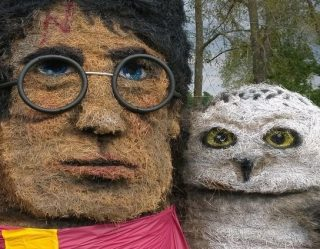 Hay Bale Artist Nails Halloween Icons In Farm-tastic Display