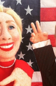 Clinton and Trump Puppets by Laura Lee Burch