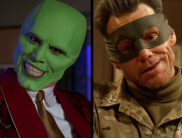 Jim Carrey as The Mask and Colonel Stars and Stripes