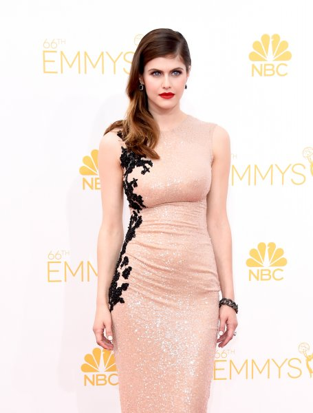 Actress Alexandra Daddario attends the 66th Annual Primetime Emmy Award