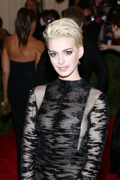 Anne Hathway attends 'PUNK: Chaos to Couture' Met Gala