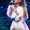 Singer Ariana Grande performs onstage at the Q102's Jingle Ball 2014 at Wells Fargo Center on December 10, 2014